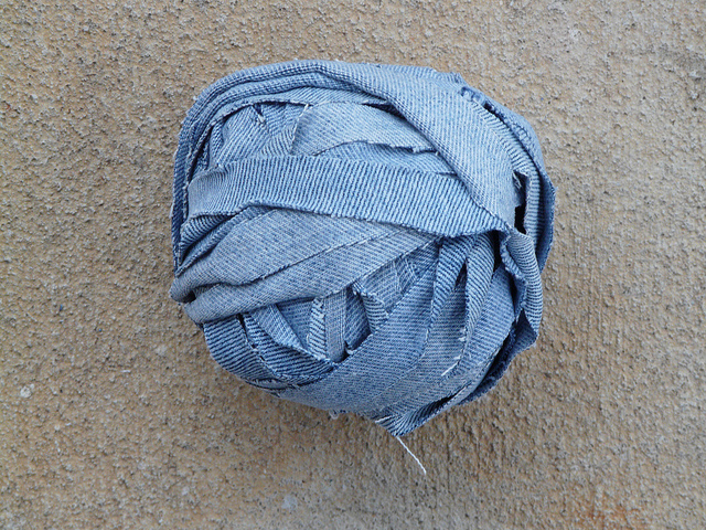 crochetbug, crochet, denim yarn, repurpose, upcycle, use what you have