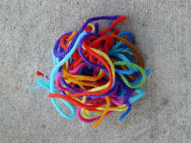 crochetbug, weaving in ends, crochet, crocheted, crocheting, yarn scraps