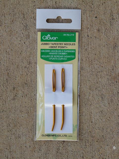 bent-tipped yarn needles