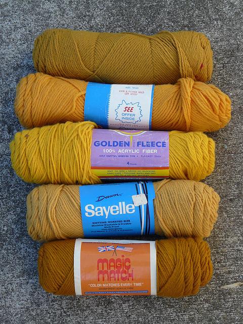 vintage gold yarn