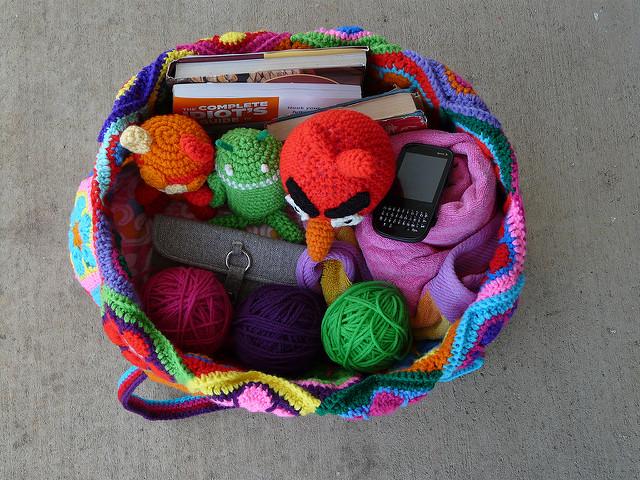 mamy crochet hexagon bag