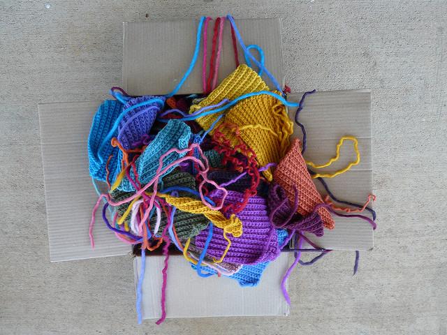 crochetbug, crochet squares, ribbed crochet, textured crochet, back loop only single crochet