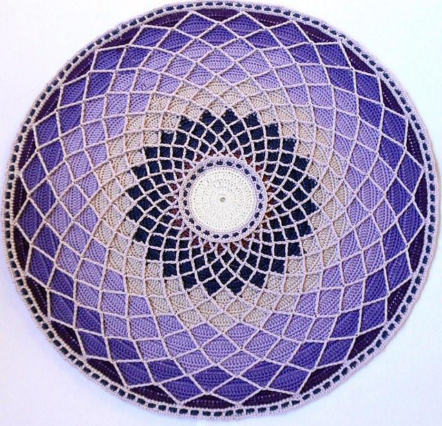 an overlay crochet doily