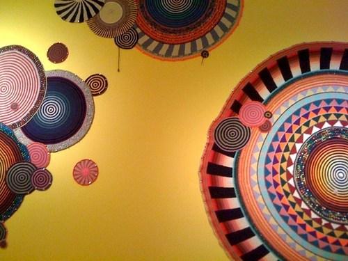 crochetbug, xenobia bailey, crochet, crochet circles, concentric circles, crochet as art
