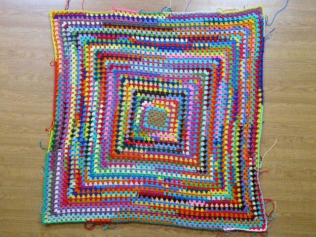 crochetbug, crochet square, granny square, scrap yarn crochet, yarn scrap granny square, use what you have