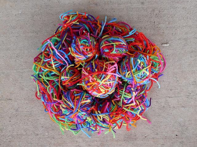 yarn scrap magic yarn ball