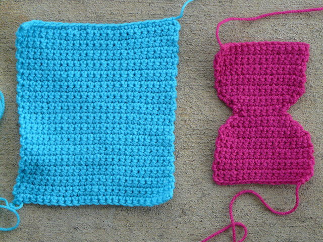 pieces for a crochet cat