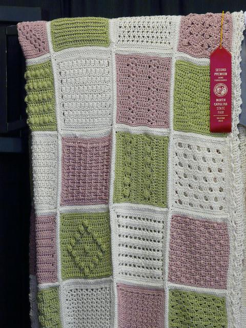 crochetbug, 2010 North Carolina State Fair, prize winning afghan