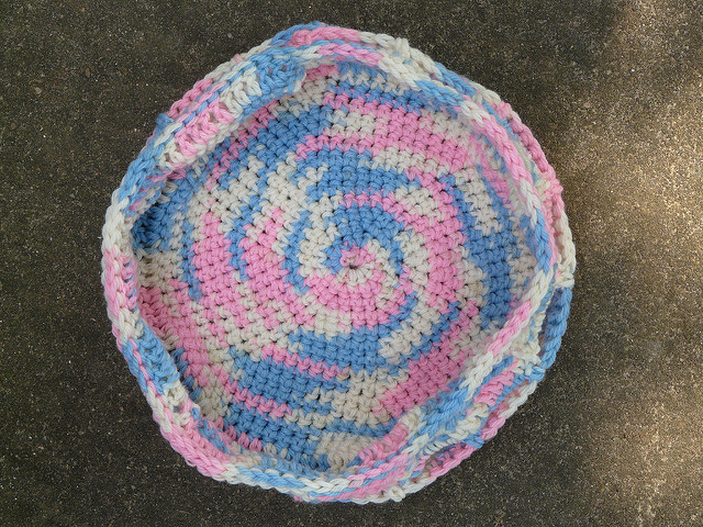 future felted crochet stash basket