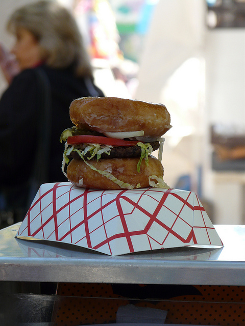 crochetbug, 2010 North Carolina State Fair, Krispy Kreme burger, crochet inspiration, amigurumi inspiration