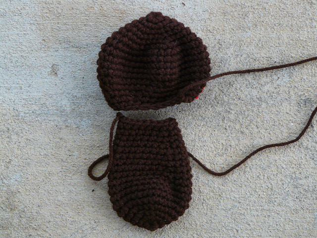 crochet monkey pieces