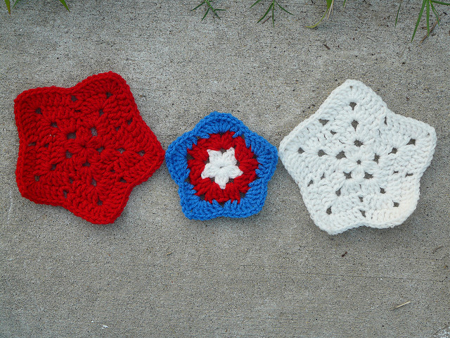 Variation on a crochet theme, completed while caught in a vortex of errands