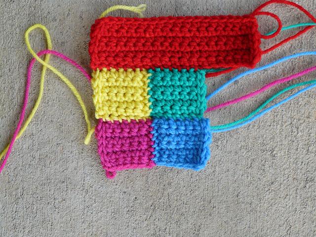 four crochet squares crochet blocks crochet rectangle border
