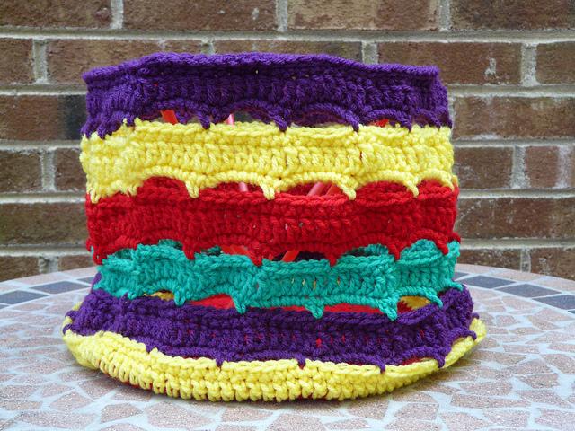 crochetbug, crochet stash bag, crochet bag, crochet stash basket, crochet basket, lifesavers