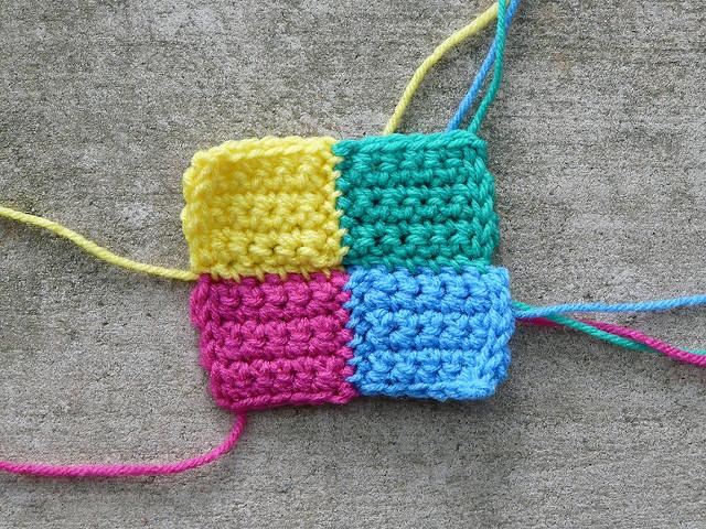 four crochet squares crochet blocks