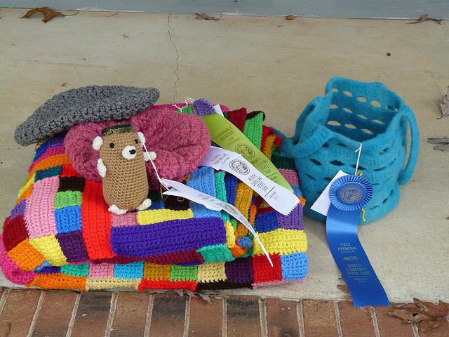 crochetbug, crochet blanket, crochet hamster, amigurumi hamster, crochet hat, felted crochet stash bag, kool-aid dyeing
