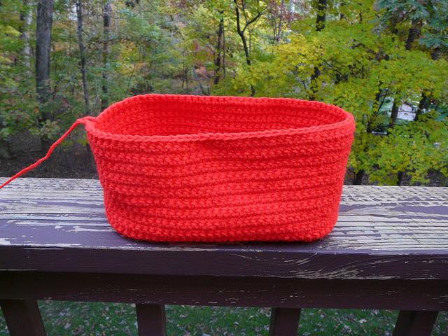 crochet handbag in progress