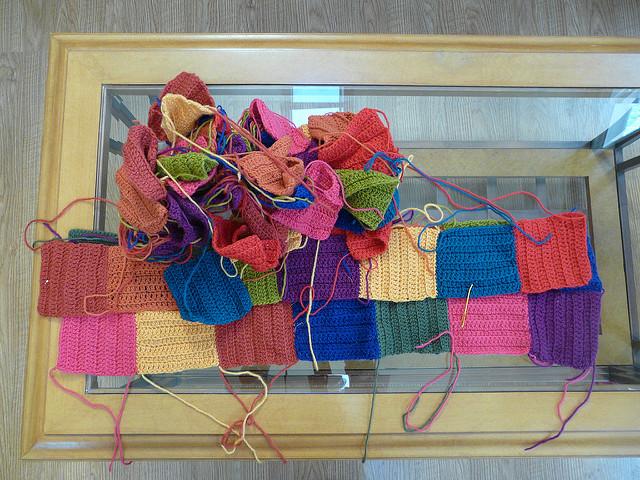 an abandoned crochet project