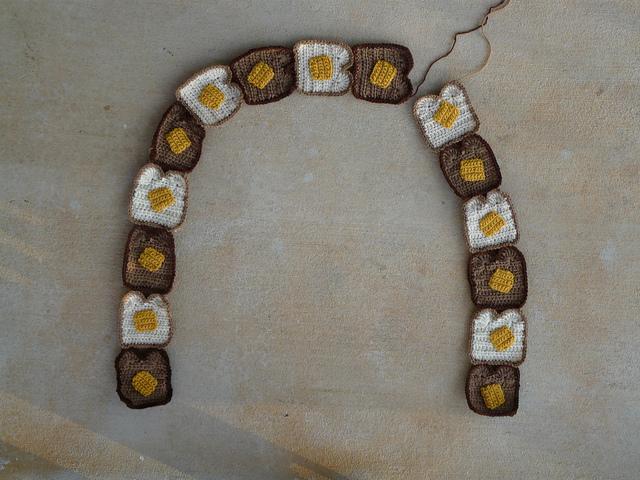 crochet toast crochet scarf