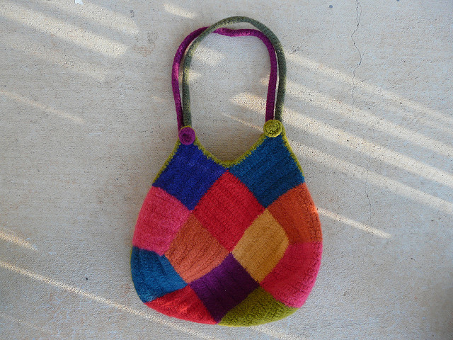 felted crochet purse