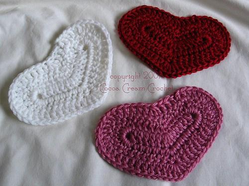 crochetbug, crochet hearts, crochet motifs, lemon lane