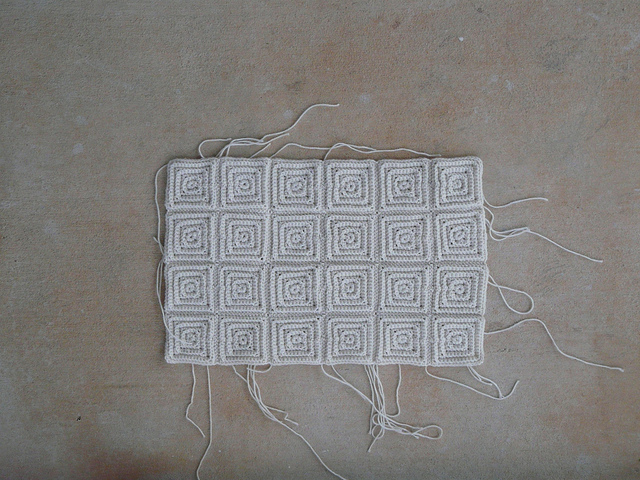 small textured crochet square motifs