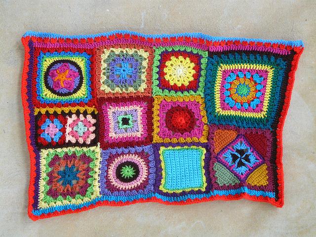 double crochet row of delft