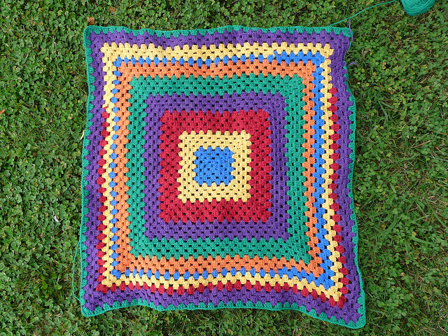 rainbow granny square blanket, crochetbug, granny squares, concentric squares, rainbow is a color, crochet baby blanket, crochet baby afghan, crochet blanket