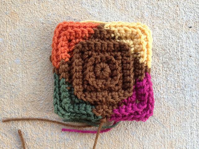 multicolor texture crochet square