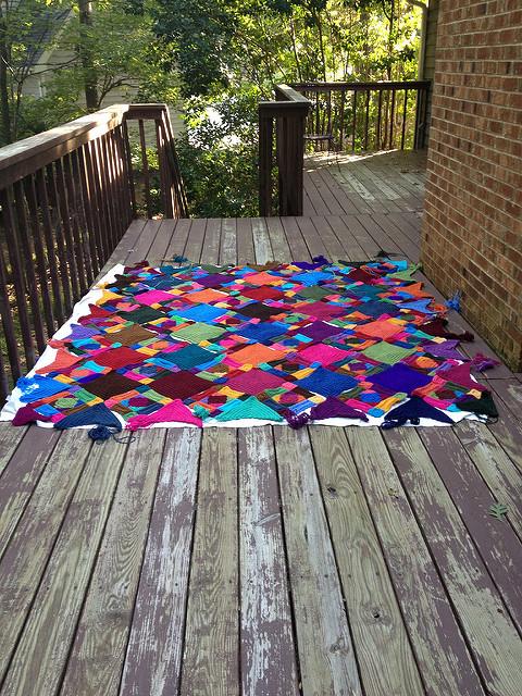 crochetbug, crochet squares, crochet rectangles, crochet triangles, crochet afghan, crochet blanket, crochet throw, textured crochet, plein air crochet
