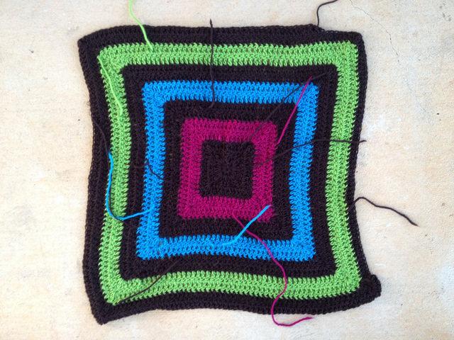 crochetbug, granny square fat bag, felted crochet bag, felted crochet purse, crochet fat bag, tootsie pop color inspiration