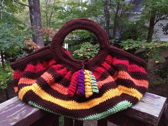 crochet granny square crochet fat bag