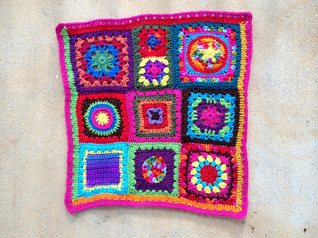 joined granny squares