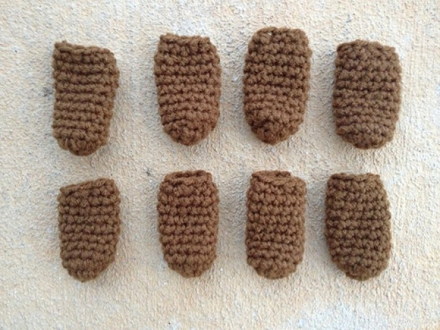 crochet chair leg socks