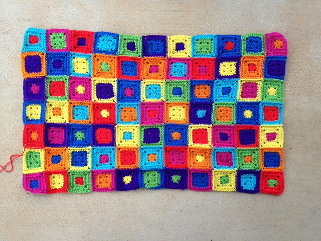 whipstitch joined crochet squares