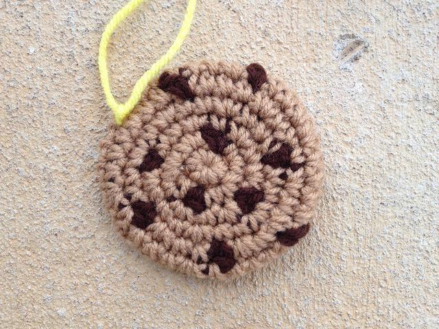 chocolate chip crochet cookie