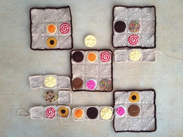 crochet cookies, crochetbug, sudoku, crochet circles, crochet puzzle, crochet squares