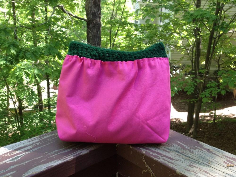 crochet purse fabric lining