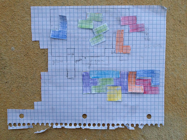 paper tetrominos