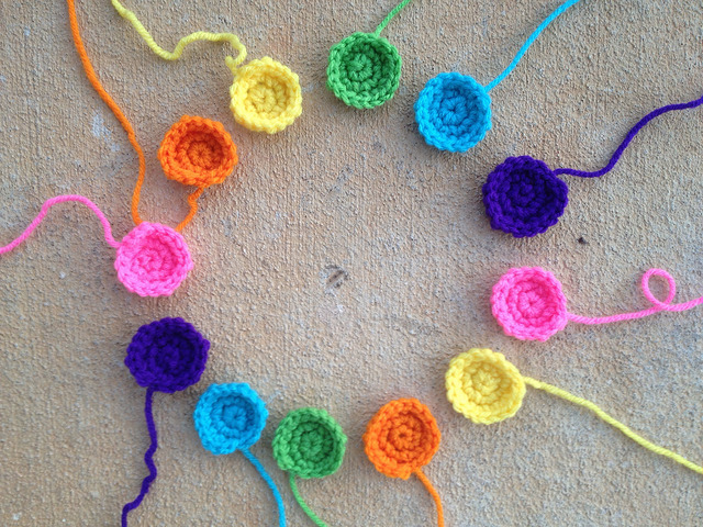 April 7: crochet dots crochet circles