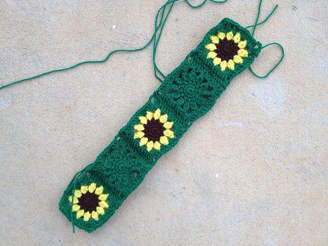 sunflower crochet squares