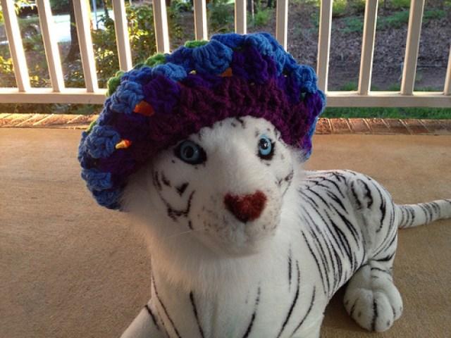 Hobbes the crochet hat model