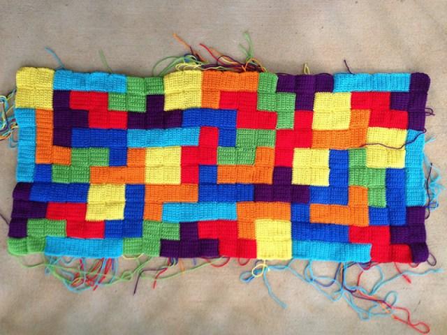crochet tetrominos crochet blanket
