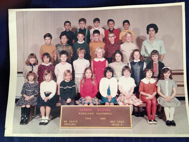 3rd grade class, Gibson School, Woodland, California