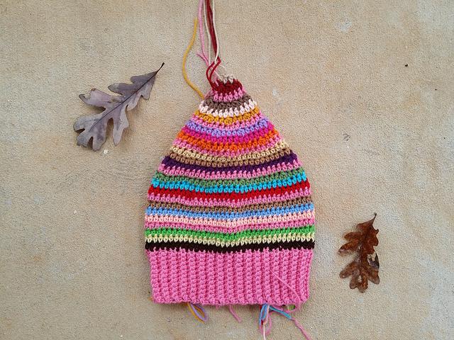 scrap buster crochet hat