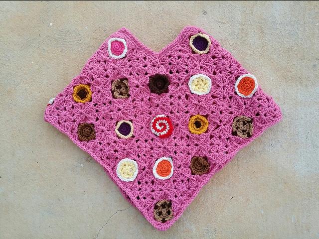 crochet cookie poncho