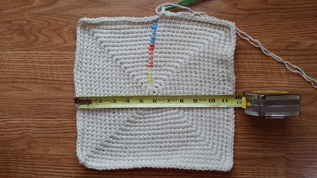 square crochet basket