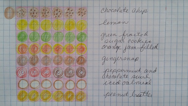 Paper cookies to use to document and plan a crochet cookie crochet blanket