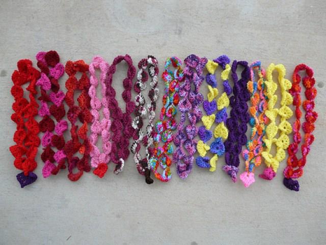 thirteen crochet necklaces