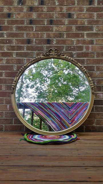 scrap crochet granny square selfie